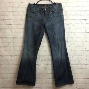 7 for all mankind Blue Flare Denim Jeans Size 30
